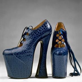 Pair of platform shoes, 1993 http://www.vam.ac.uk/